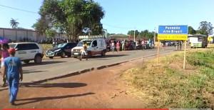 Protesta con blocco stradale ad Alto Brasil
