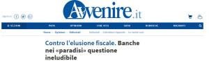 Banche nei «paradisi» questione ineludibile