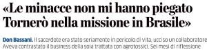 """""""LE MINACCE NON MI HANNO PIEGATO…."""""""
